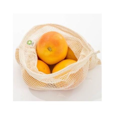 Bolsa de red  algodón orgánico Gots para frutas y verduras