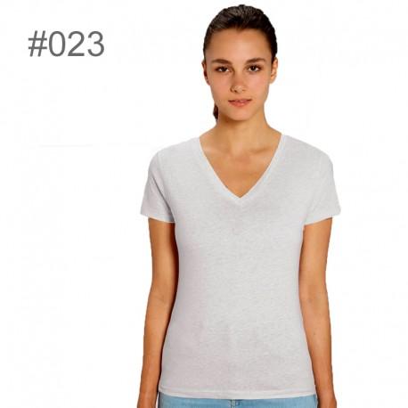 Camiseta de pico ecológica 120gr de mujer_ 023