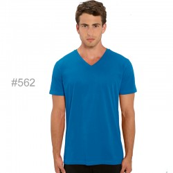 Camiseta orgánica cuello pico de hombre