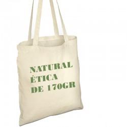 Bolsa gruesa 170gr de algodón natural y producción ética