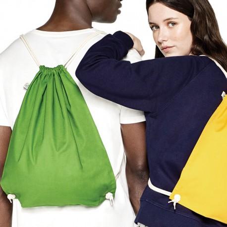 Mochila 100% algodón orgánico GOTS y Fairwear gruesa 170gr  y producción ética de colores