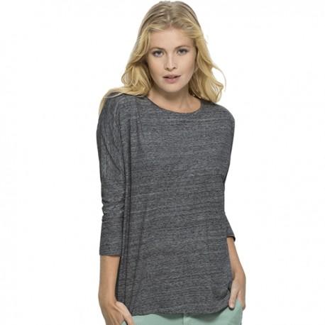 Camiseta ecológica TSlub manga larga mujer