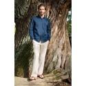 Pantalon de lino de algodon ecologico
