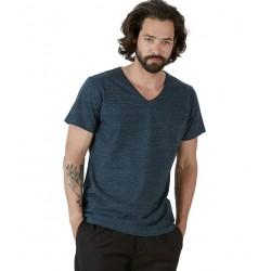 Camiseta ecológica cuello pico de hombre