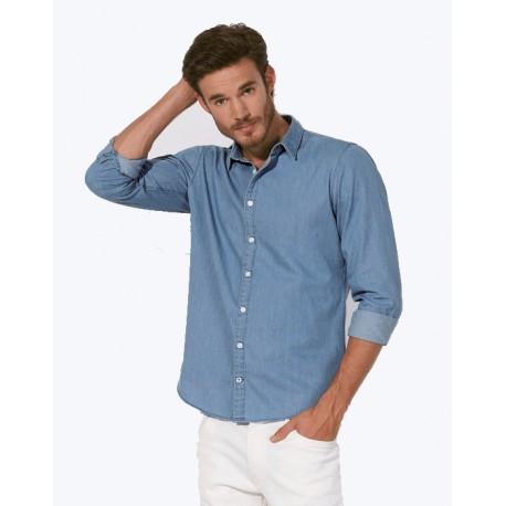Camisa denim ecológica de algodón