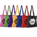 Bolsas de color con tintes eco de algodón y producción ética