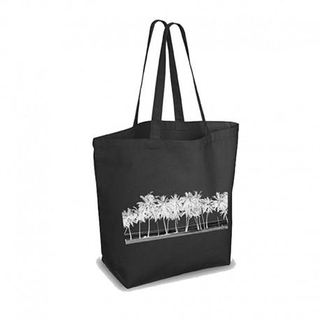 Bolsa negra gruesa de algodón natural y producción ética 280gr