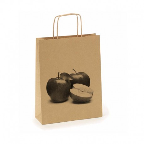 Bolsa de papel reciclado, biodegradables 24x32cm