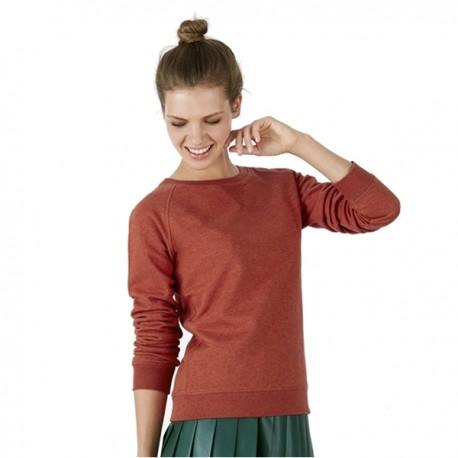 Sudadera orgánica sin capucha xtrip mujer