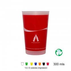 Vasos reutilizables 300ml