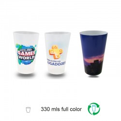 Vasos reutilizables 330ml