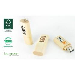Memorias USB de madera sostenible FSC