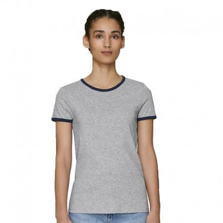 Camiseta orgánica contraste mujer